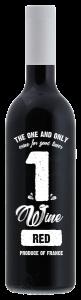 1wine Rouge Merlot Wijn Fles 750ml