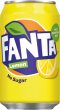 Fanta Lemon ZERO  No sugar Frisdrank blik tray 24x33cl