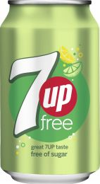 7up Free Light frisdrank blikjes tray 24x33cl