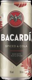 Bacardi Spice rum & Cola blik 250ml