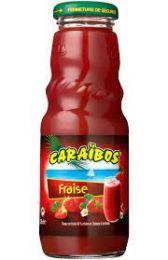 Caraibos Aardbei Vruchtensap fles 1 liter