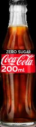 Coca Cola ZERO SUGAR Krat 24x200ml Glas