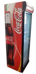 Coca Cola koelkast glasdeur groot