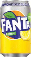 Fanta Lemon ZERO Blikjes zonder suiker