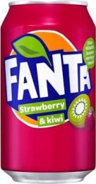 Fanta Strawberry & Kiwi Blik tray 24x33cl
