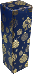 Fles Geschenkdoos Kerst Blue