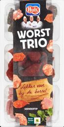 Huls Worst trio Bakje 180gr