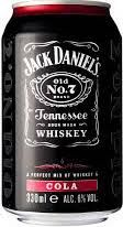 Jack Daniels Cola Pre-mix blik 330ml