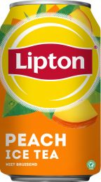 Lipton Ice tea Peach Blik 330ml tray 24 blikken van 330 ml