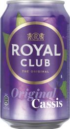 Royal Club Cassis Blik tray 24x330ml