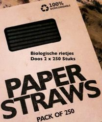 Biologische rietjes zwart doos 2x250st