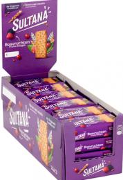 Sultana Fruitbiscuit Bosvrucht doos 24x48gr