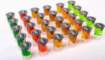 Shotjes in duo glas polycarbonaat 72x30 ML