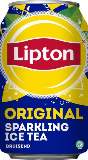 Oroiginal Lipton Ice Tea Sparkling blik 330 ml Tray 24 stuks