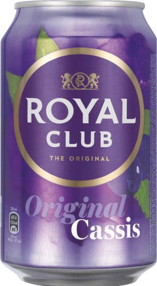 Royal Club Cassis Blik tray 24x330ml
