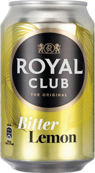 Royal Club Bitter Lemon blik 330 ml tray 24 blikken