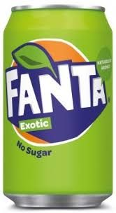 Fanta Exotic No Sugar NL Blik 33cl