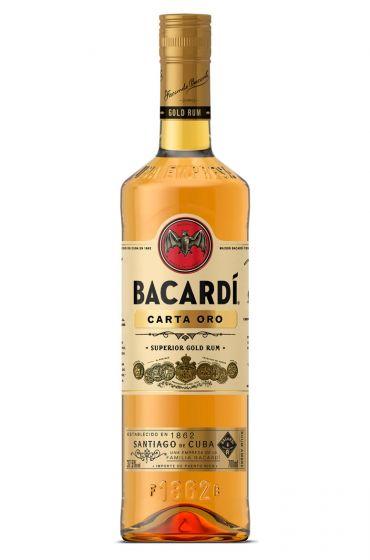 Bacardi Carta Oro Bruine rum fles 70cl