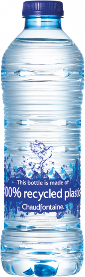 Chaudfontaine Still ( Blauw) Tray 24x500ml 100% recycled plastic