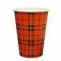 koffiebeker ruit karton 100st