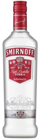 Smirnoff Red  Vodka Fles 1 Liter goedkoop vodka