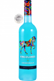 Vincolores Caribbean Blue Party Wine fles 75cl