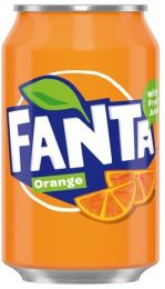 Fanta Orange Sinas Blikjes tray 24x33cl