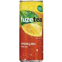 Fuze Tea Sparkling black tea Blik Tray 24x25cl Blikjes