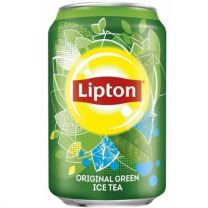 Lipton Green Ice tea Blikjes tray 24x33cl