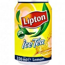 Lipton Ice tea Lemon Blikjes tray 24x33cl