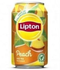 Lipton Ice tea Peach blikjes tray 24x33cl