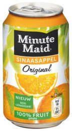 Minute Maid Sinaasappel Jus 'd Orange blikjes tray 24x33cl