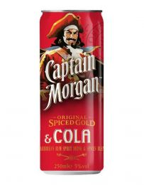 Captain Morgan Spice gold Rum & Cola Tray 12 x 25cl blikjes evenementen