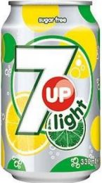 Seven up 7up Light blikjes tray 24x33cl