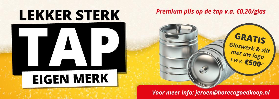Premium bier op de tap