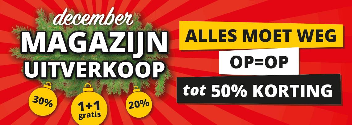 December Magazijnverkoop!